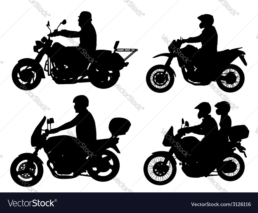 Motorcyclists vector | Price: 1 Credit (USD $1)