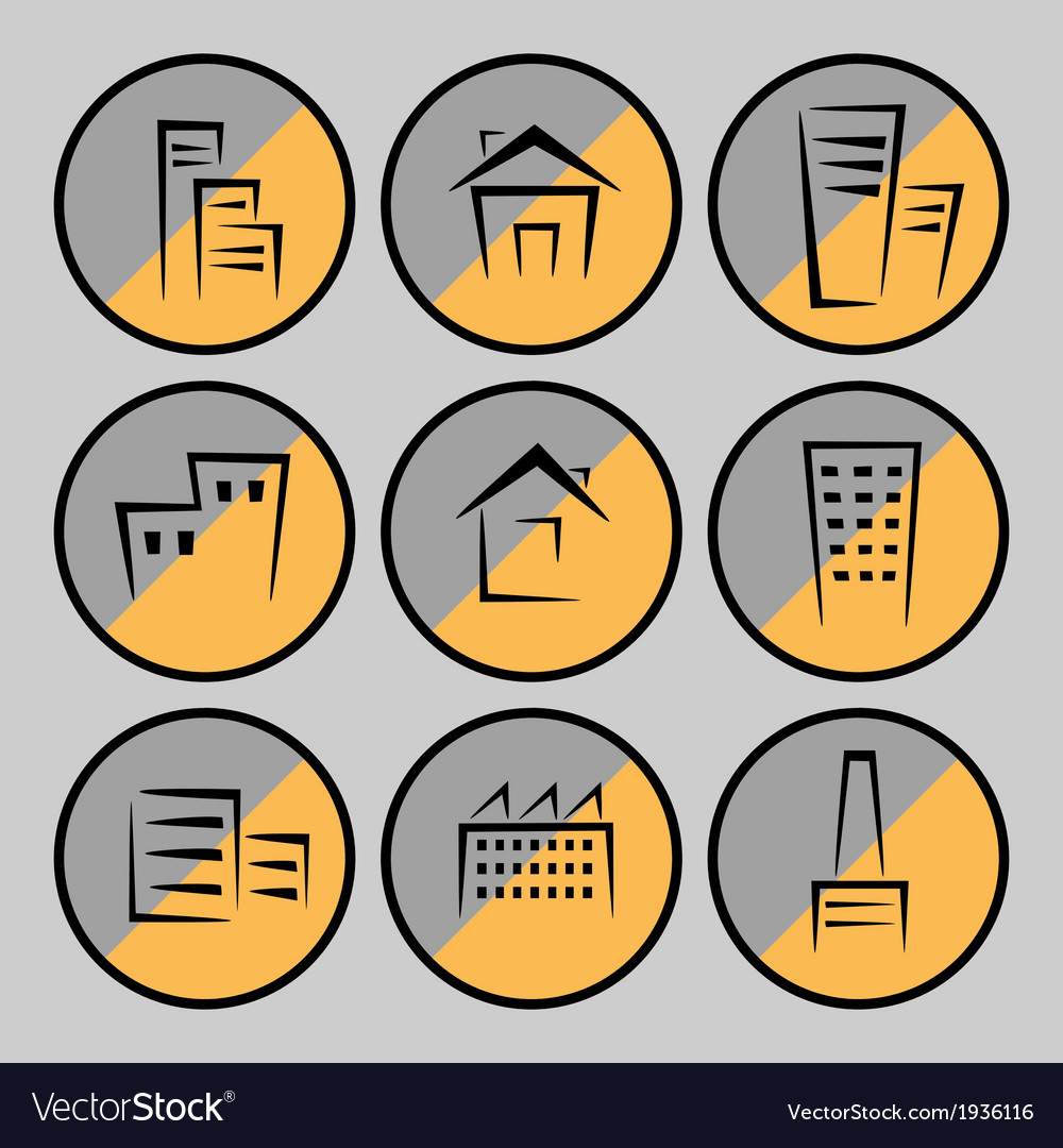 Pictures of houses and buildings vector | Price: 1 Credit (USD $1)