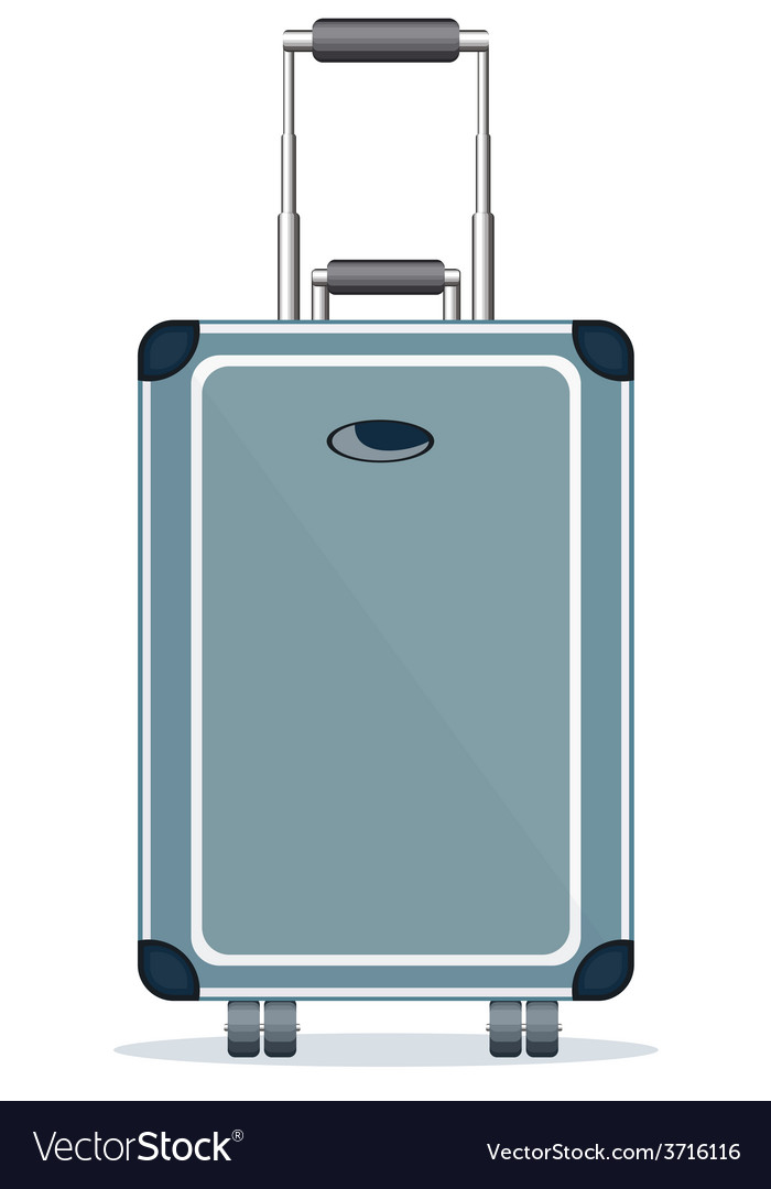 Suitcase isolated on a white background vector | Price: 1 Credit (USD $1)