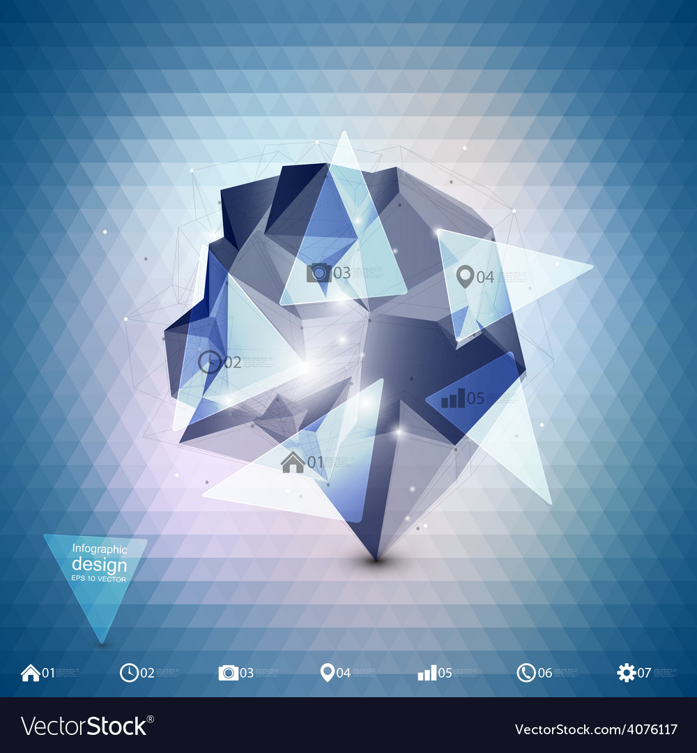 Abstract dimensional polygonal geometric vector | Price: 1 Credit (USD $1)