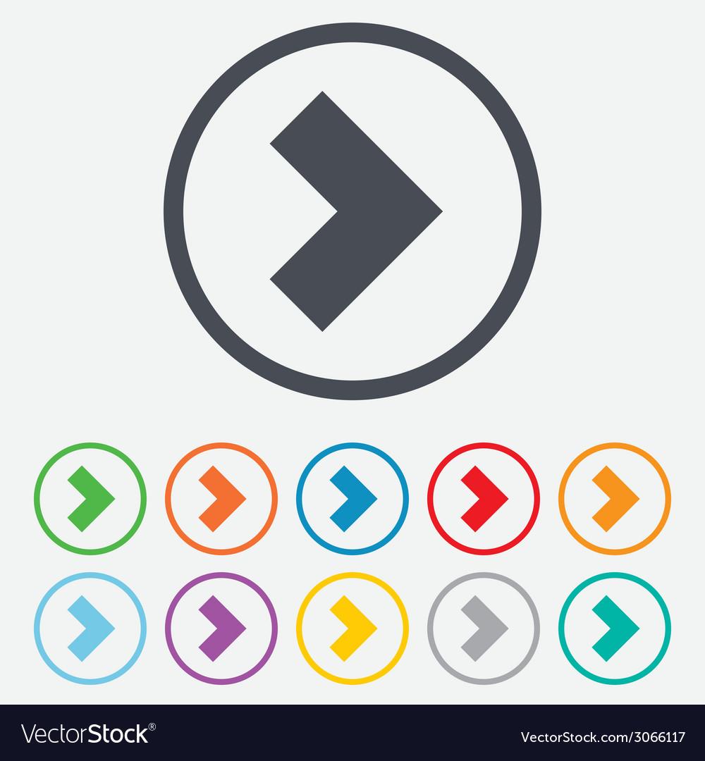 Arrow sign icon next button navigation symbol vector   Price: 1 Credit (USD $1)