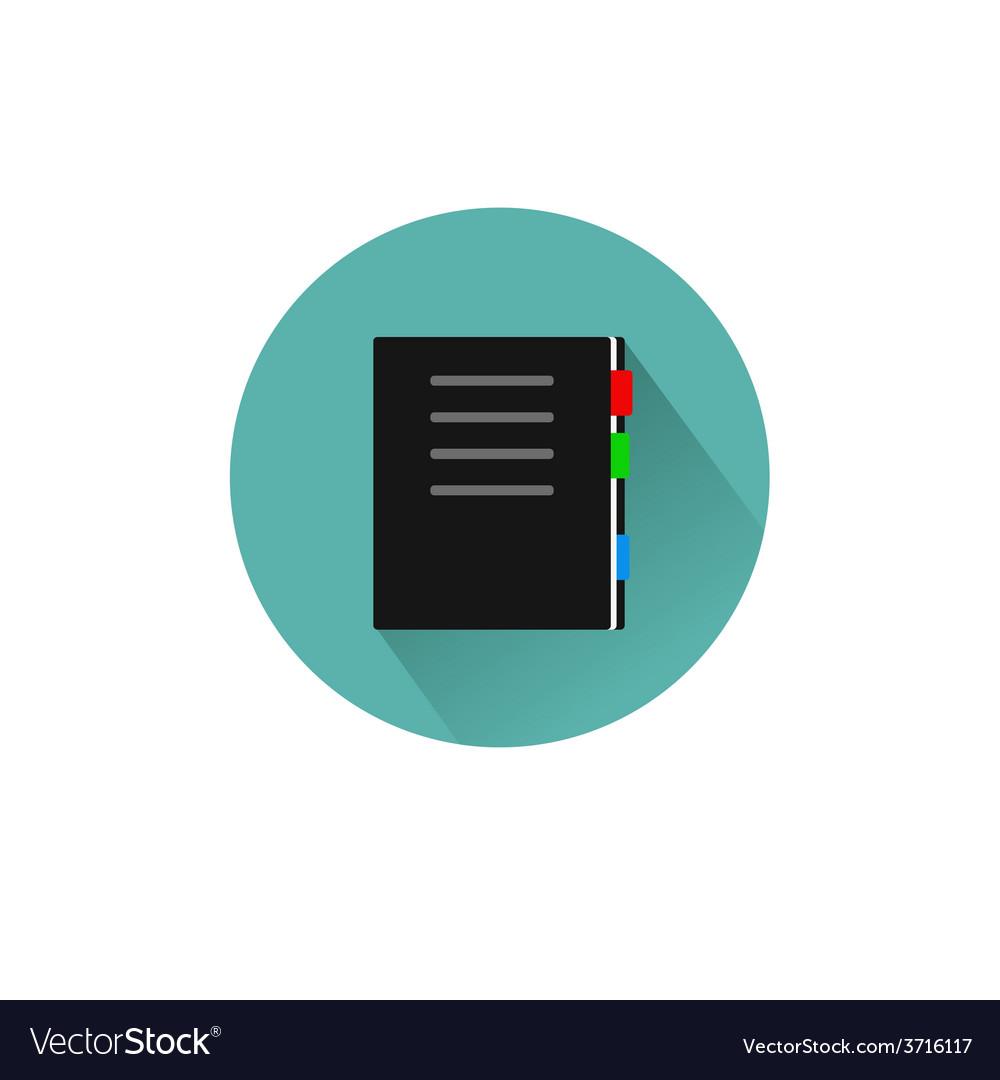 Book icon flar design vector | Price: 1 Credit (USD $1)