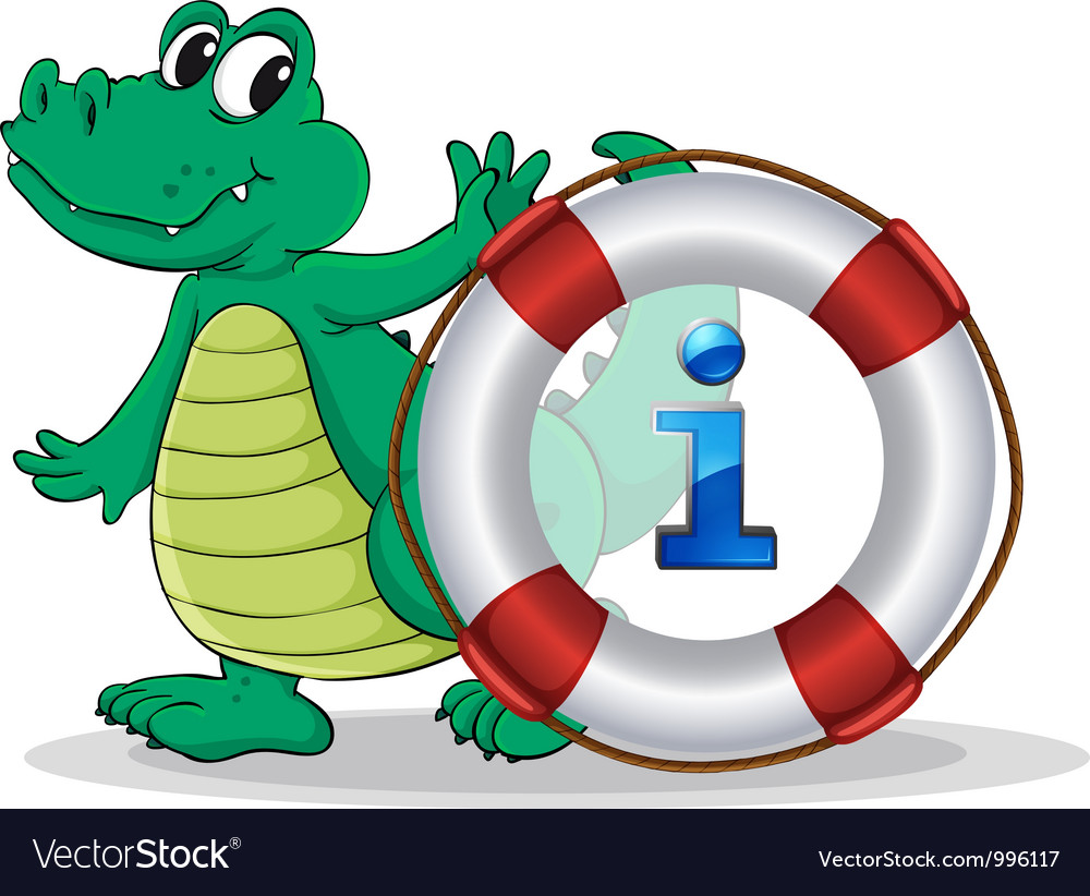 Crocodile information kiosk sign vector | Price: 1 Credit (USD $1)