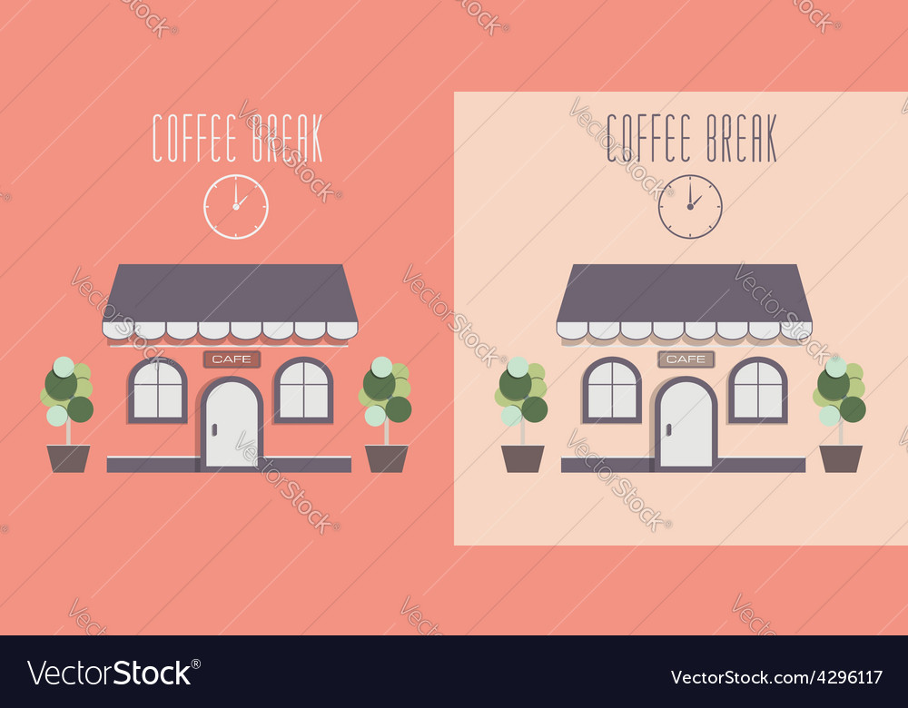 Cute cozy cafe invite for a coffee vector | Price: 1 Credit (USD $1)
