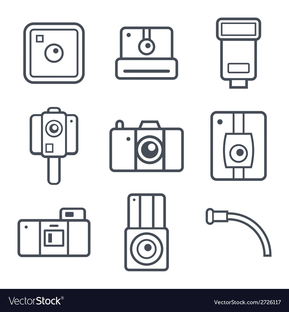 Icons retro photo camera vector | Price: 1 Credit (USD $1)