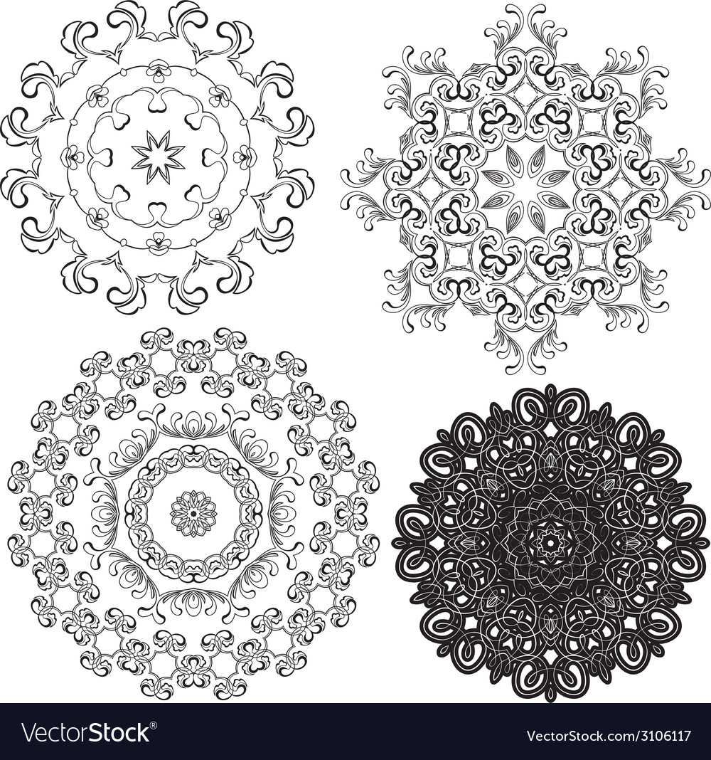 Set circle 1color 7 380 vector | Price: 1 Credit (USD $1)