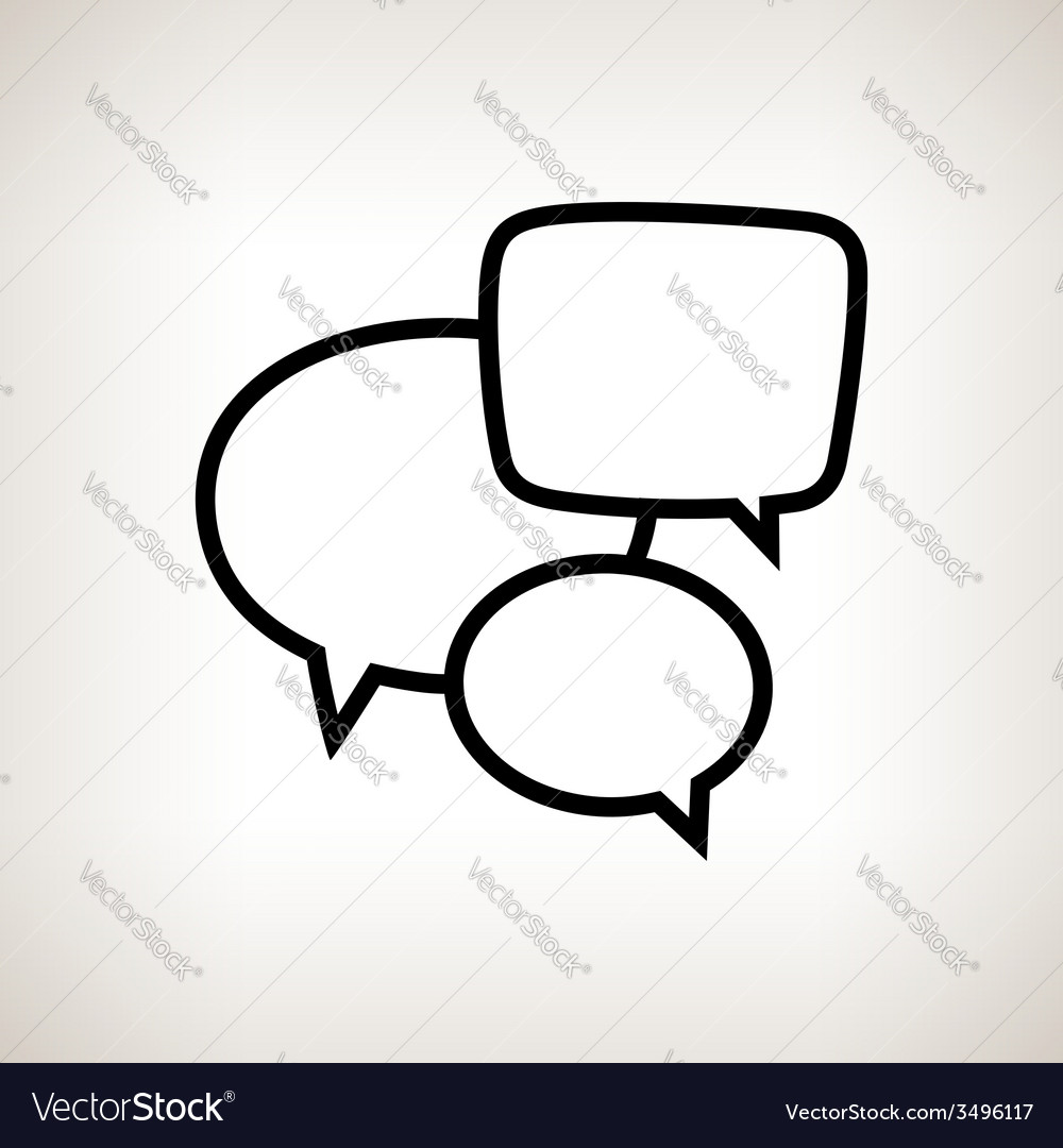 Silhouette speech bubble on a light background vector | Price: 1 Credit (USD $1)
