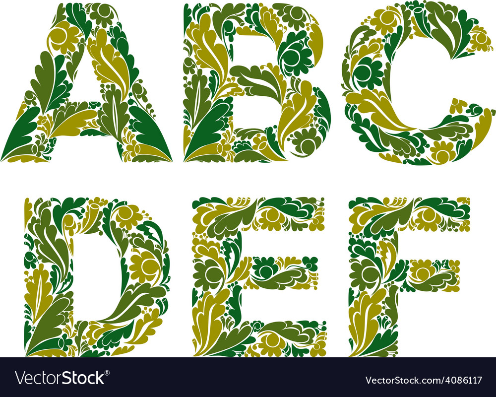 Stylish script with spring herbal ornament vector   Price: 1 Credit (USD $1)