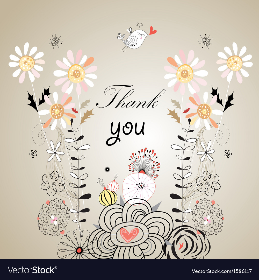 Thank you card with font vector | Price: 1 Credit (USD $1)