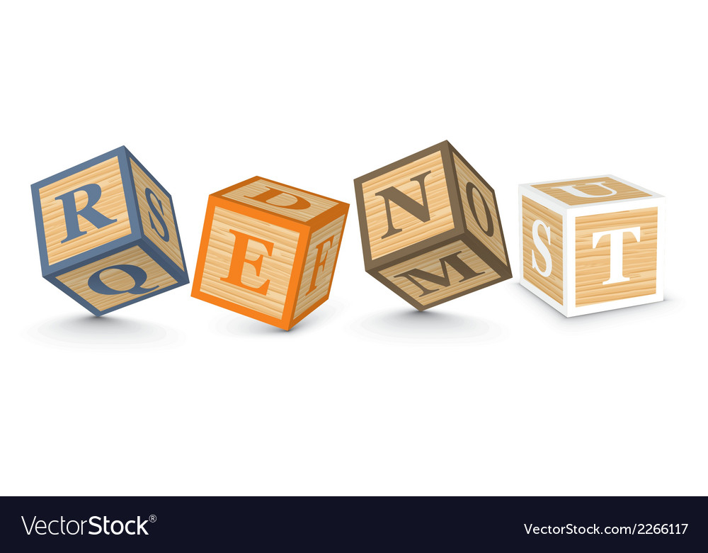 Word rent written with alphabet blocks vector | Price: 1 Credit (USD $1)