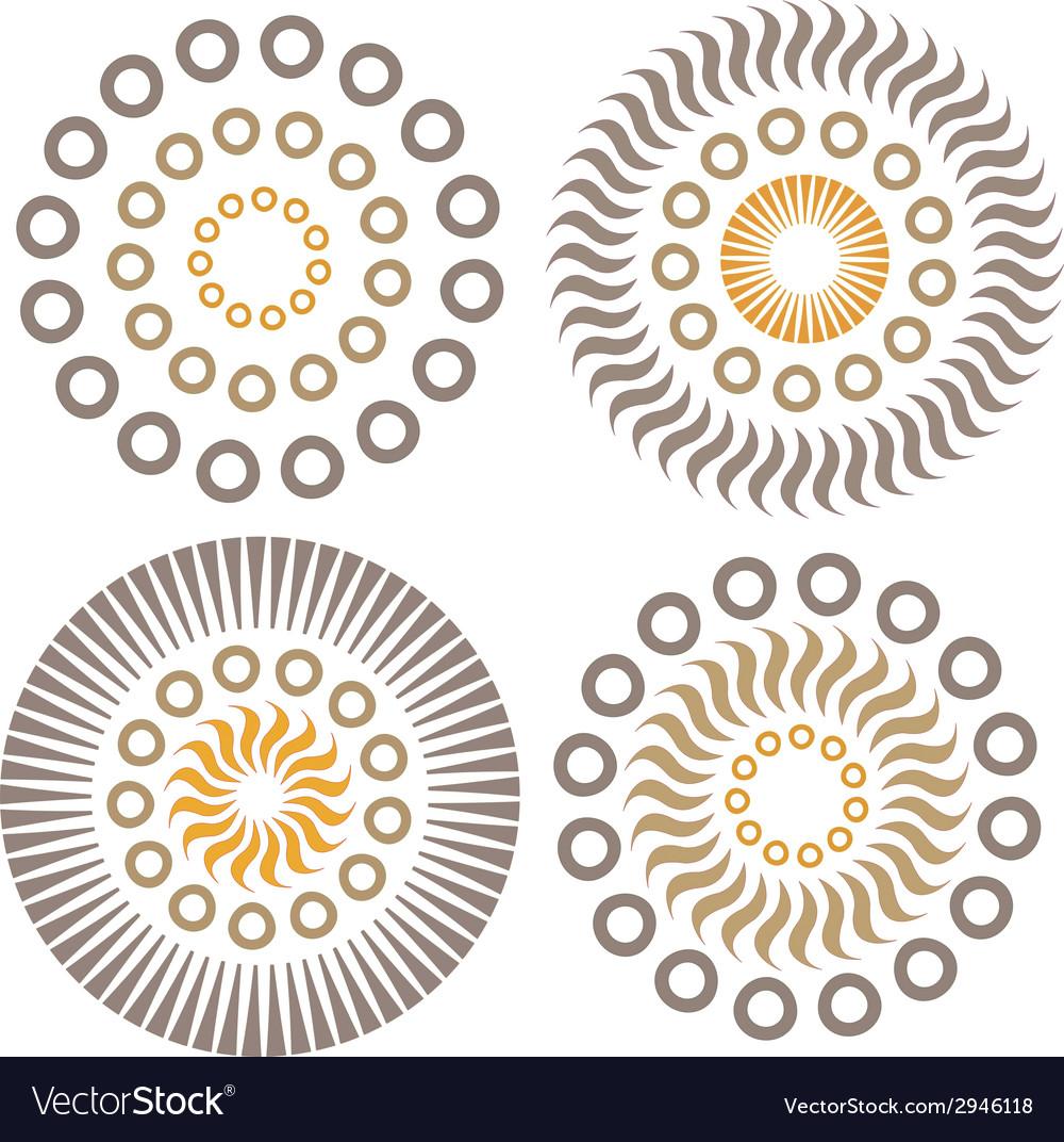 Abstract circles vector | Price: 1 Credit (USD $1)