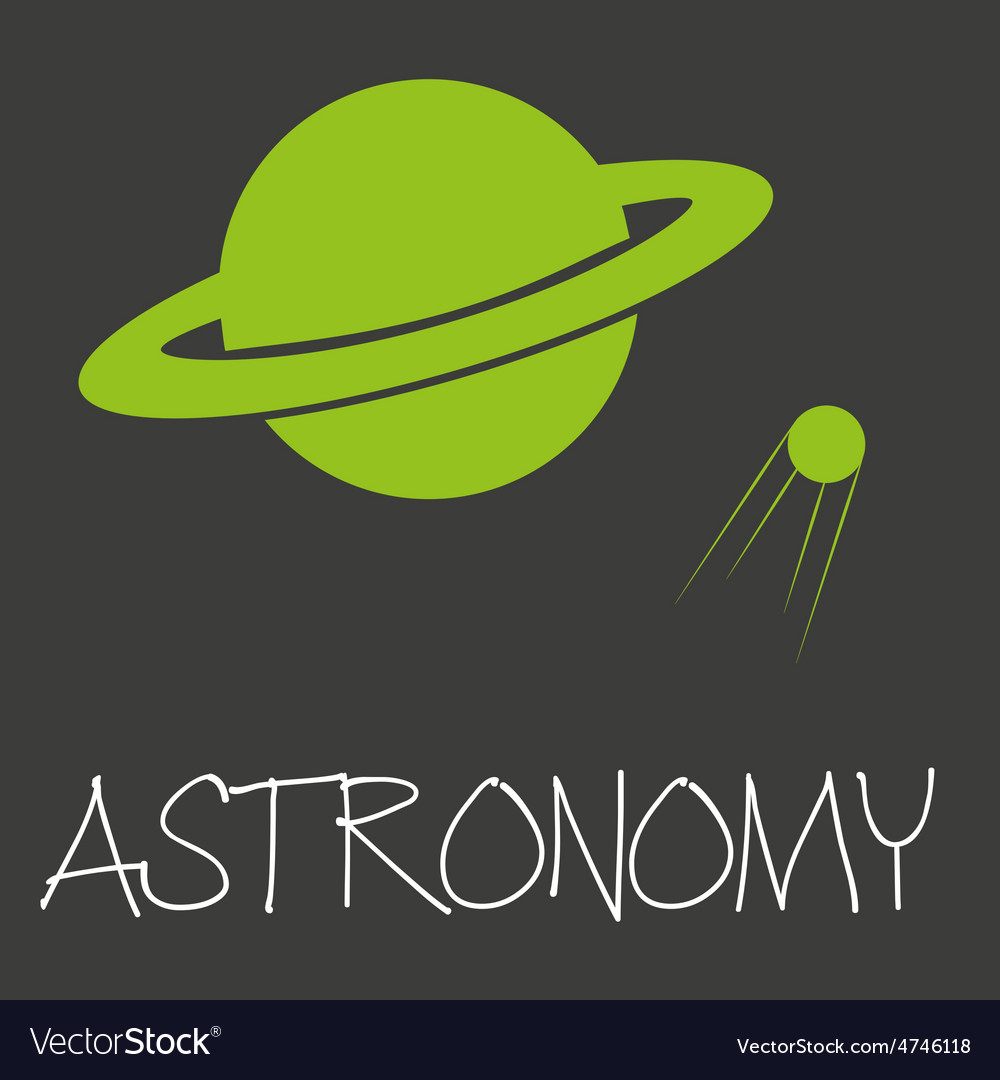 Astronomy text and planet in space symbol eps10 vector | Price: 1 Credit (USD $1)