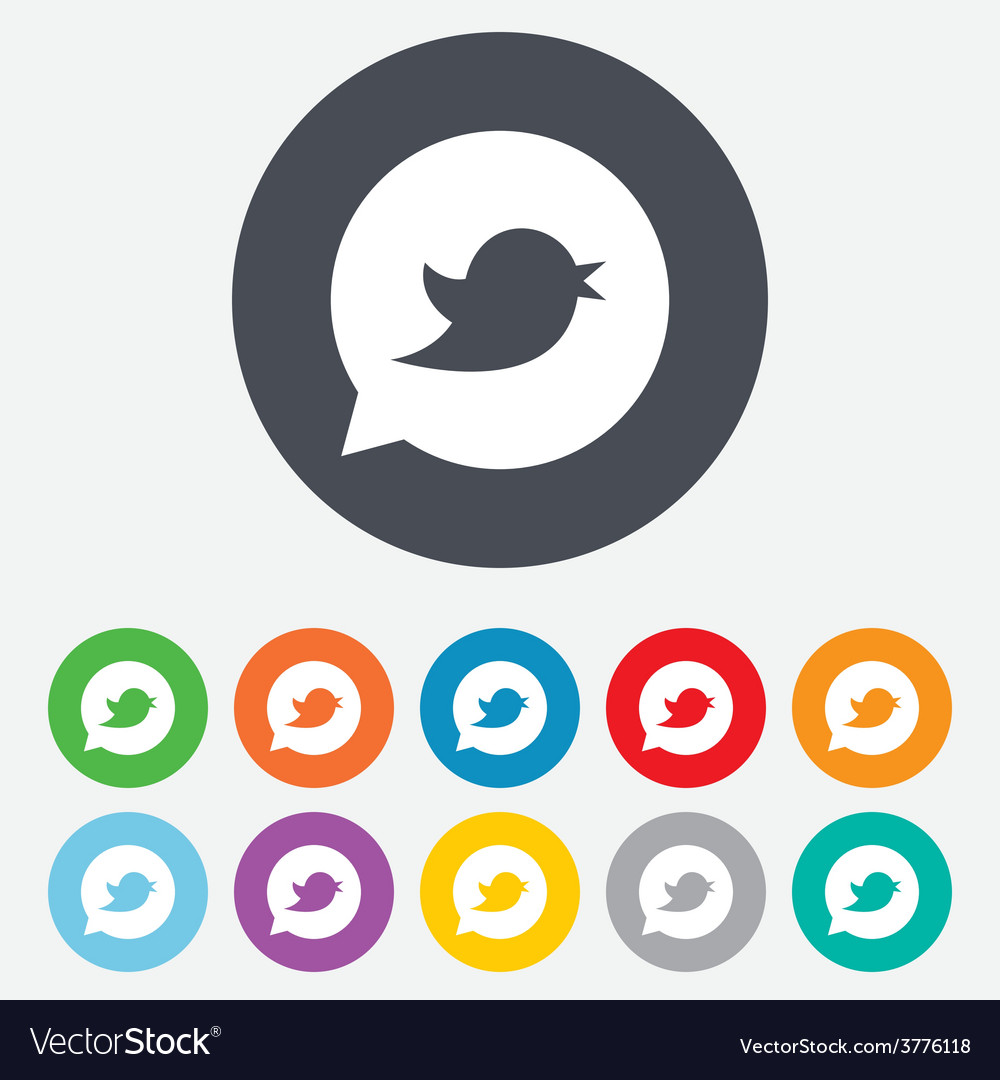 Bird sign icon social media symbol vector | Price: 1 Credit (USD $1)