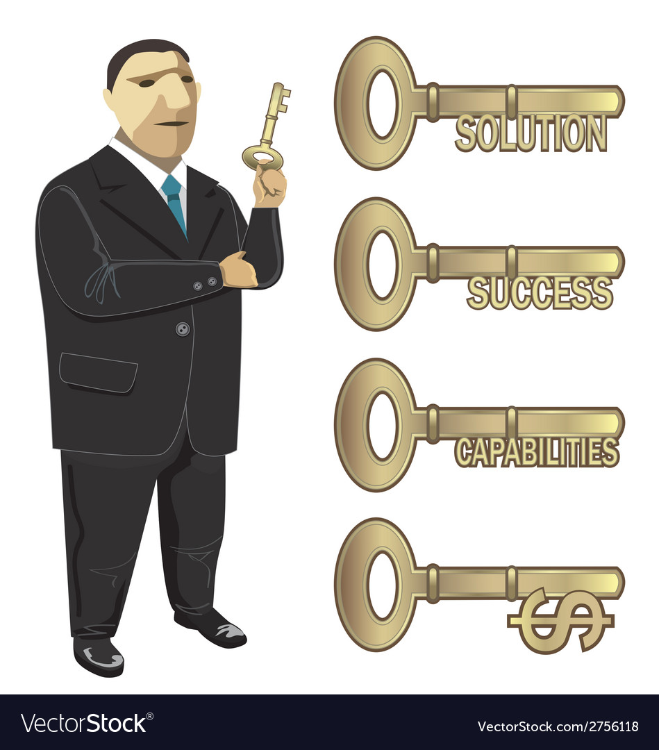 Businessman key to business vector | Price: 1 Credit (USD $1)