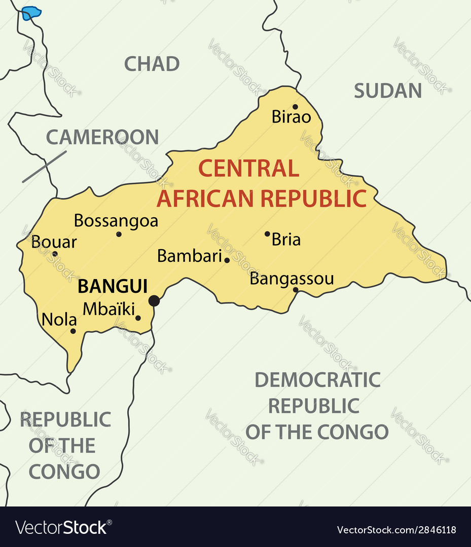 Central african republic - map vector | Price: 1 Credit (USD $1)