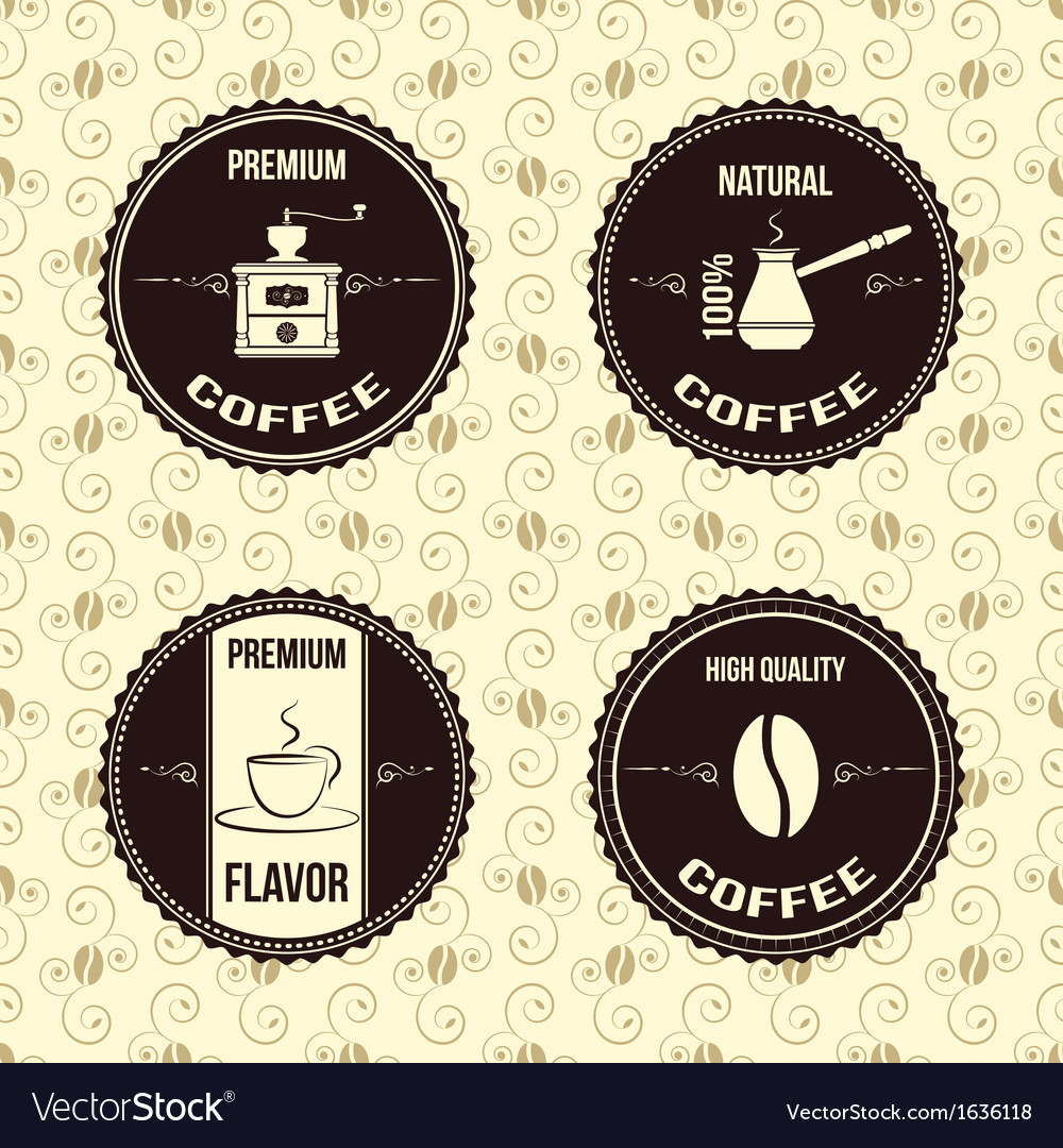 Coffee vintage labels vector | Price: 1 Credit (USD $1)