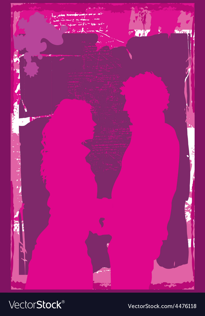 Couple silhouette vector | Price: 1 Credit (USD $1)