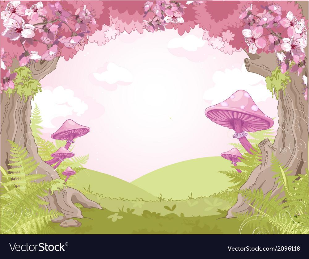 Fantasy landscape vector | Price: 3 Credit (USD $3)