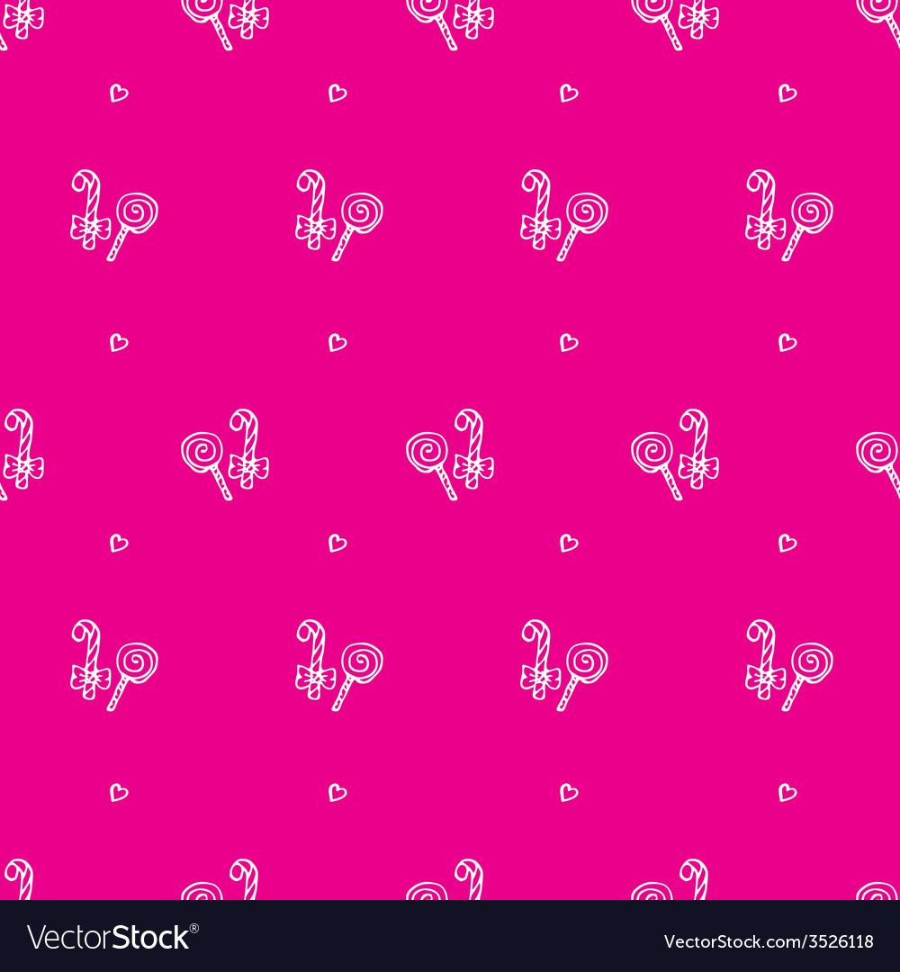 Hand drawn lollipop seamless pattern vector | Price: 1 Credit (USD $1)