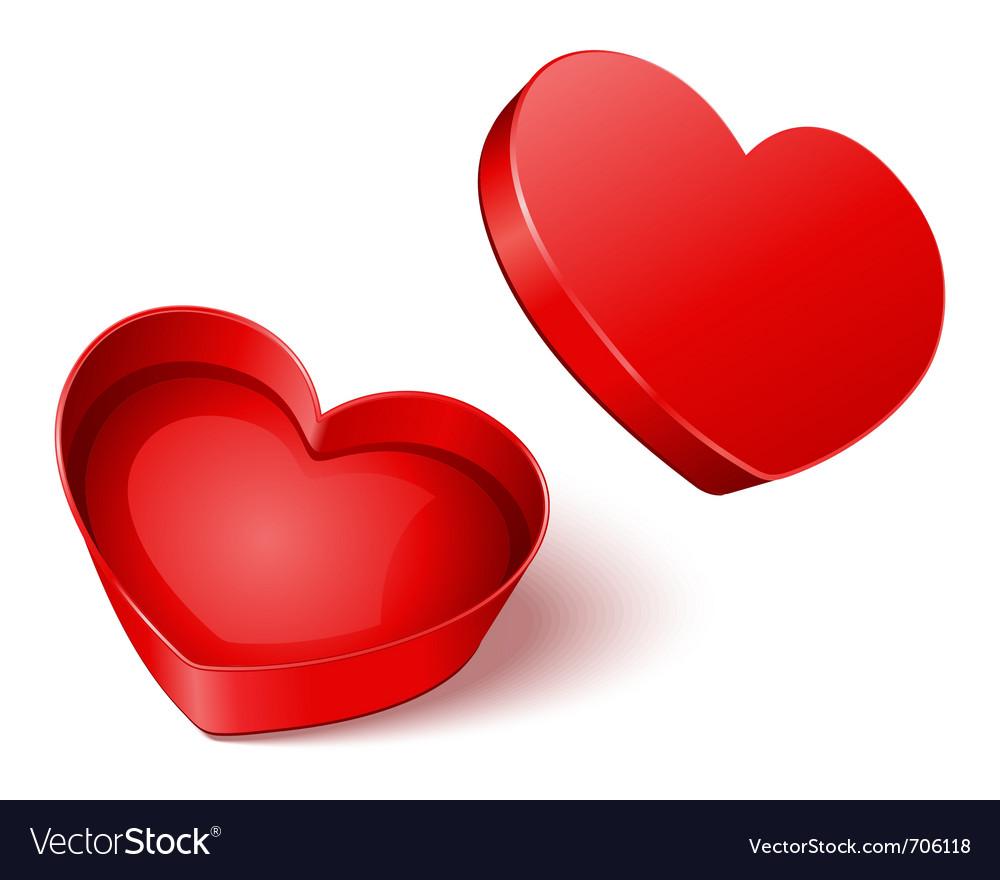 Heart gift present open vector | Price: 1 Credit (USD $1)