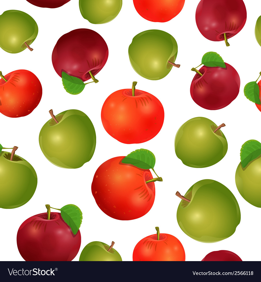 Seamless texture of apples vector | Price: 1 Credit (USD $1)