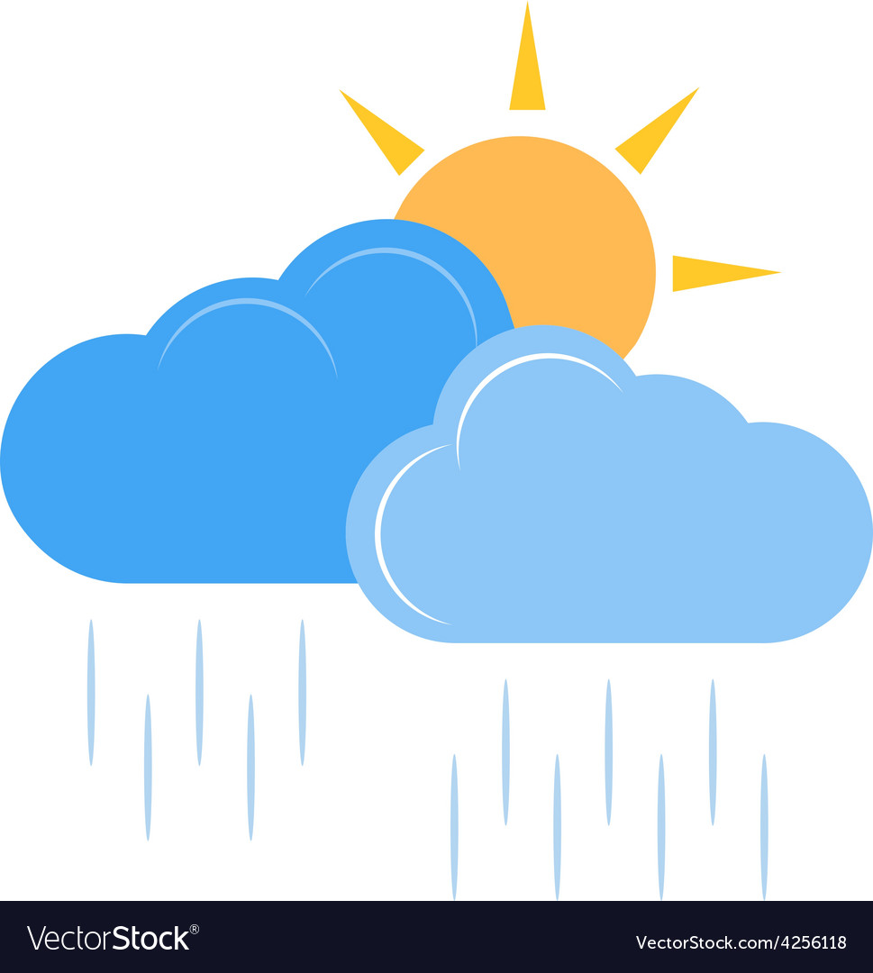 Sunny and rainy vector | Price: 1 Credit (USD $1)