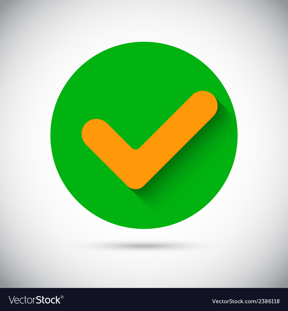 Tick check sign flat icon vector   Price: 1 Credit (USD $1)