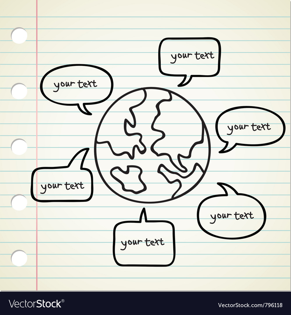 World talking bubble vector | Price: 1 Credit (USD $1)