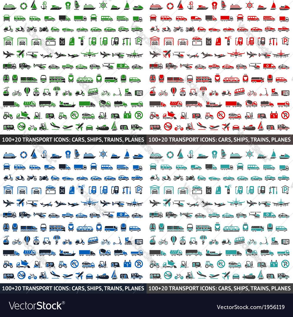 480 transport icons vector | Price: 1 Credit (USD $1)