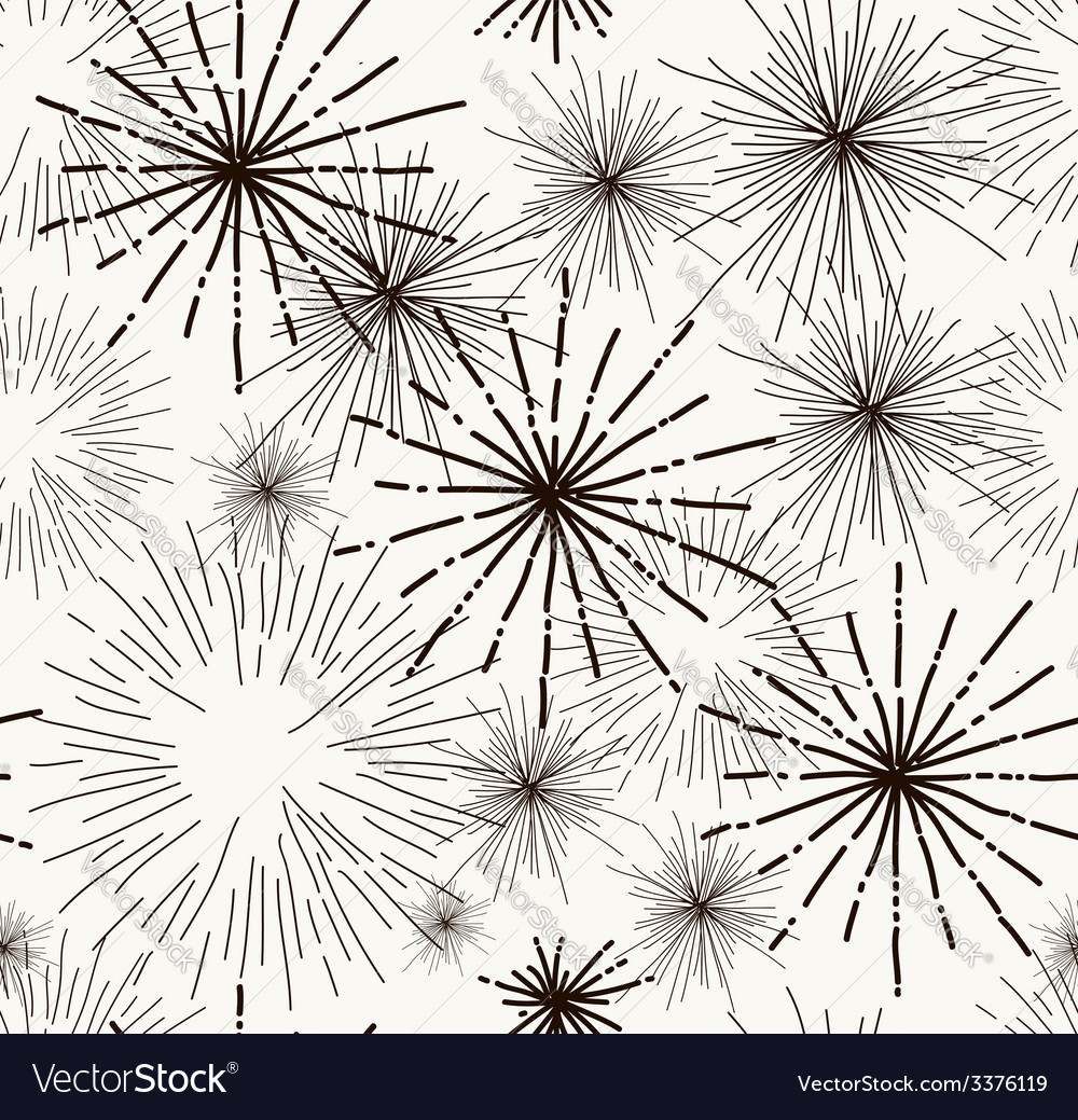 Abstract doodle stars seamless pattern vector | Price: 1 Credit (USD $1)