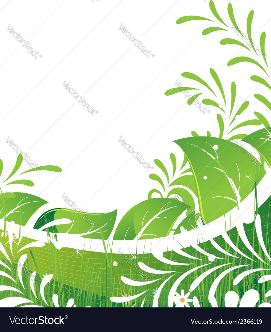 Abstract green lawn vector | Price: 1 Credit (USD $1)