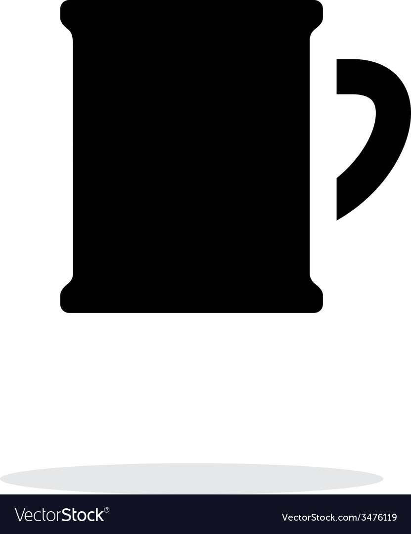 Beer mug simple icon on white background vector | Price: 1 Credit (USD $1)