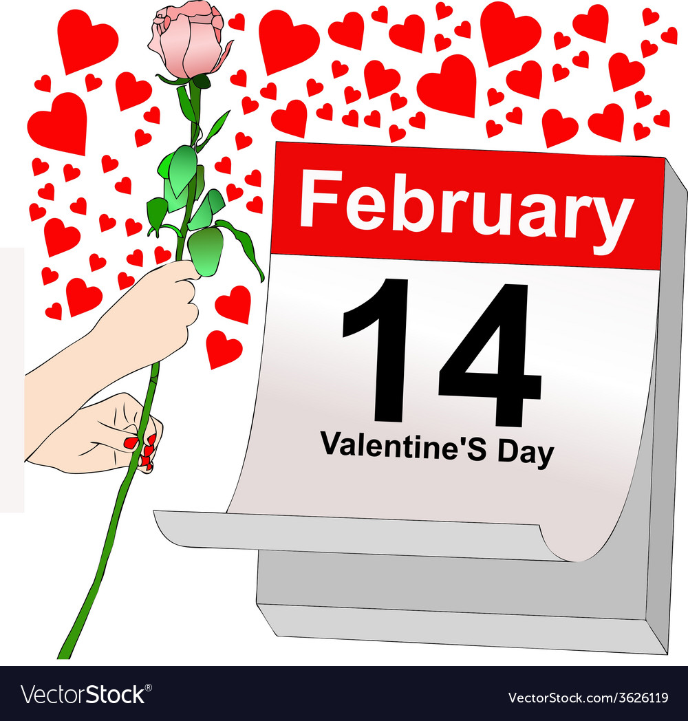 February 14 a day full of love vector | Price: 1 Credit (USD $1)