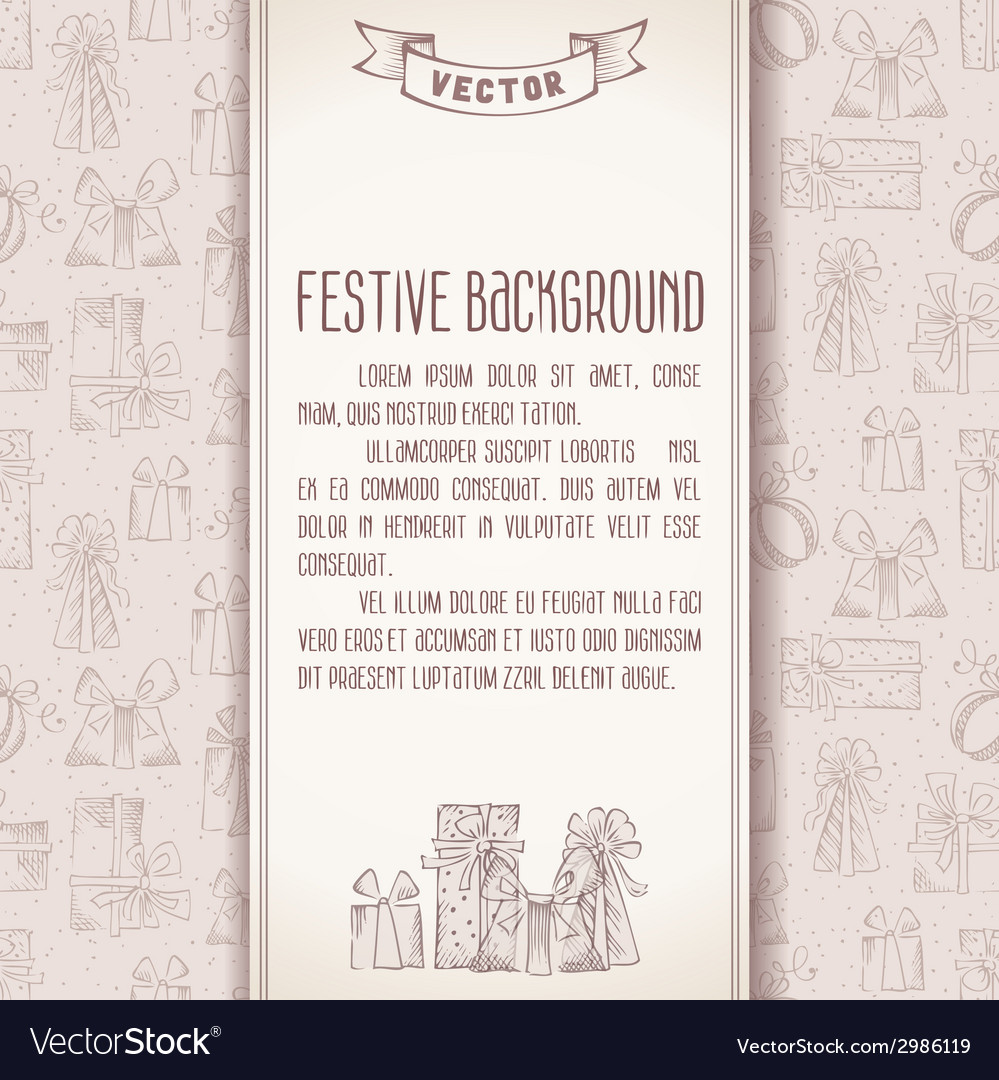 Festive background in retro style vector | Price: 1 Credit (USD $1)