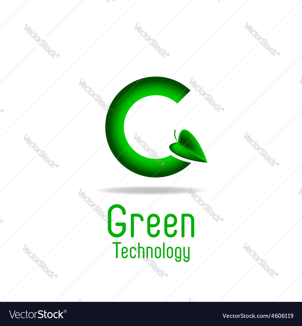 Green letter g and leaf eco technology logo mockup vector   Price: 1 Credit (USD $1)