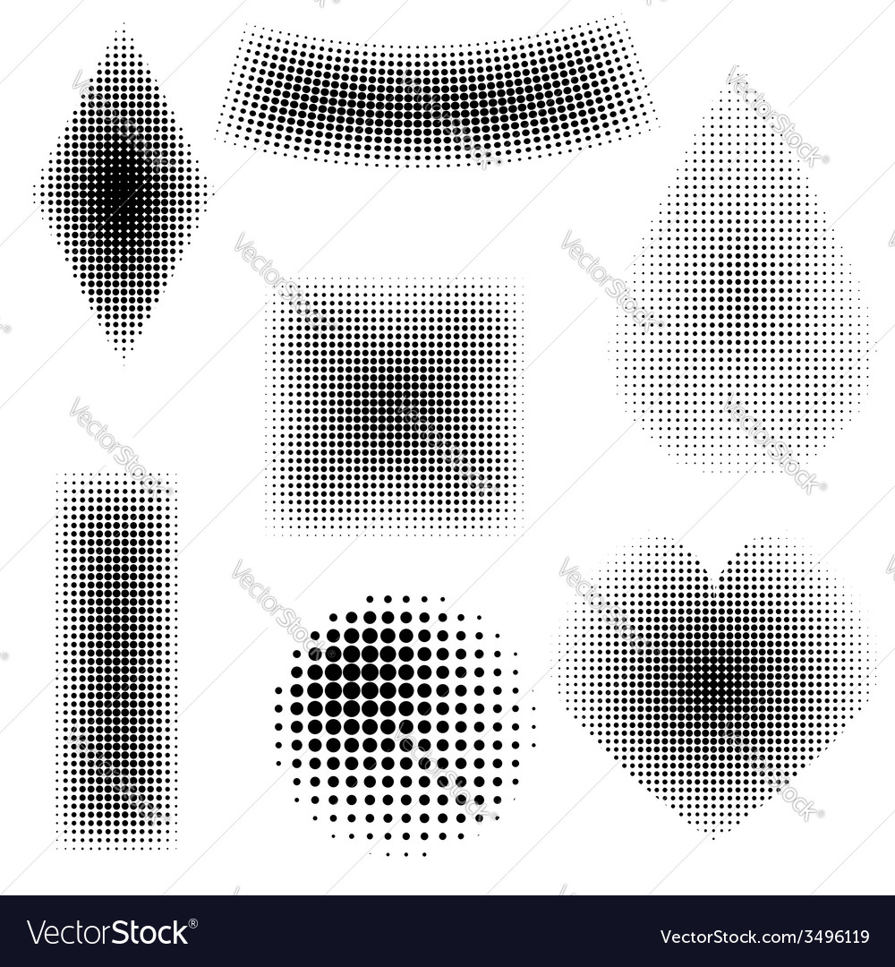 Halftone objects vector | Price: 1 Credit (USD $1)
