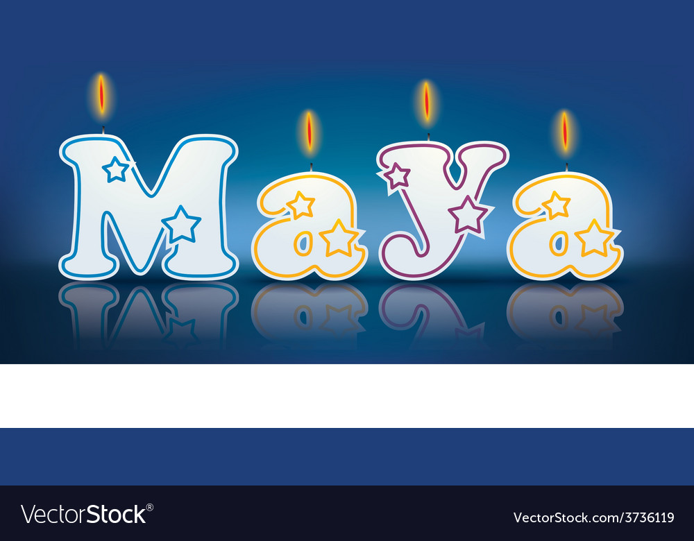 Maya written with burning candles vector | Price: 1 Credit (USD $1)