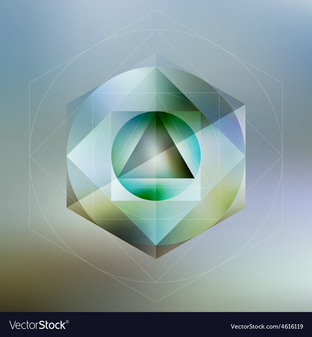 Polygon pattern with the reflection minimalistic vector