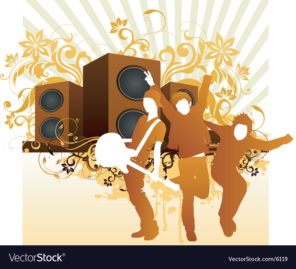 Rock band illustration vector | Price: 3 Credit (USD $3)