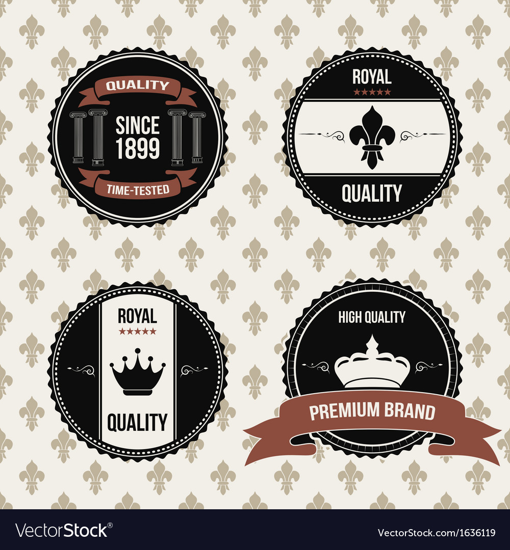Vintage royal labels vector | Price: 1 Credit (USD $1)