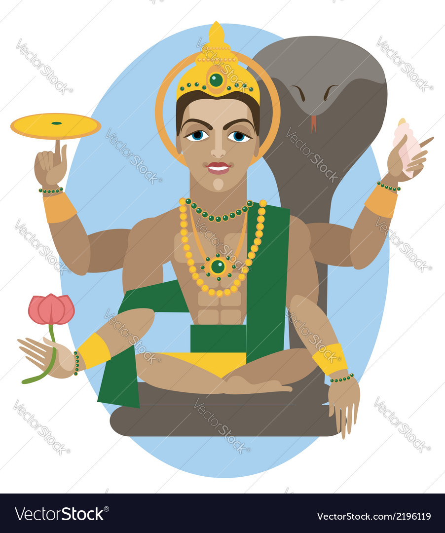 Vishnu deity vector | Price: 1 Credit (USD $1)