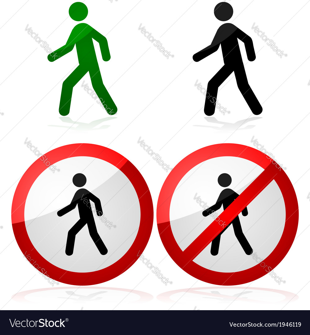 Walking sign vector | Price: 1 Credit (USD $1)