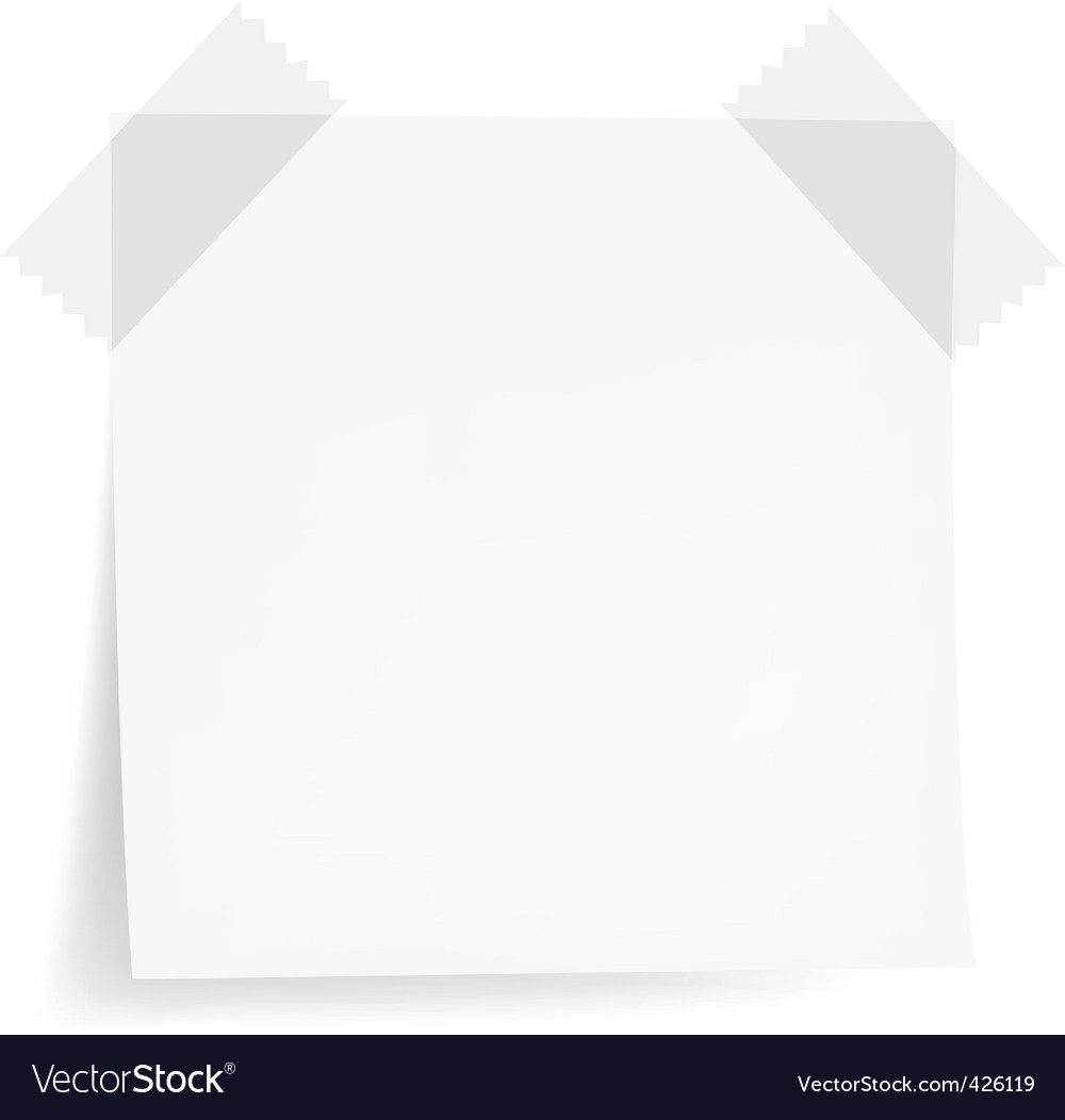 White note papers vector | Price: 1 Credit (USD $1)
