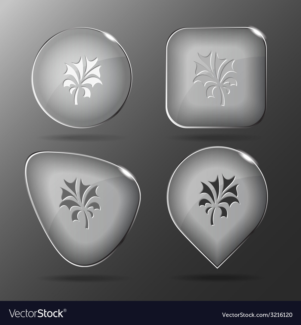 Abstract plant glass buttons vector | Price: 1 Credit (USD $1)