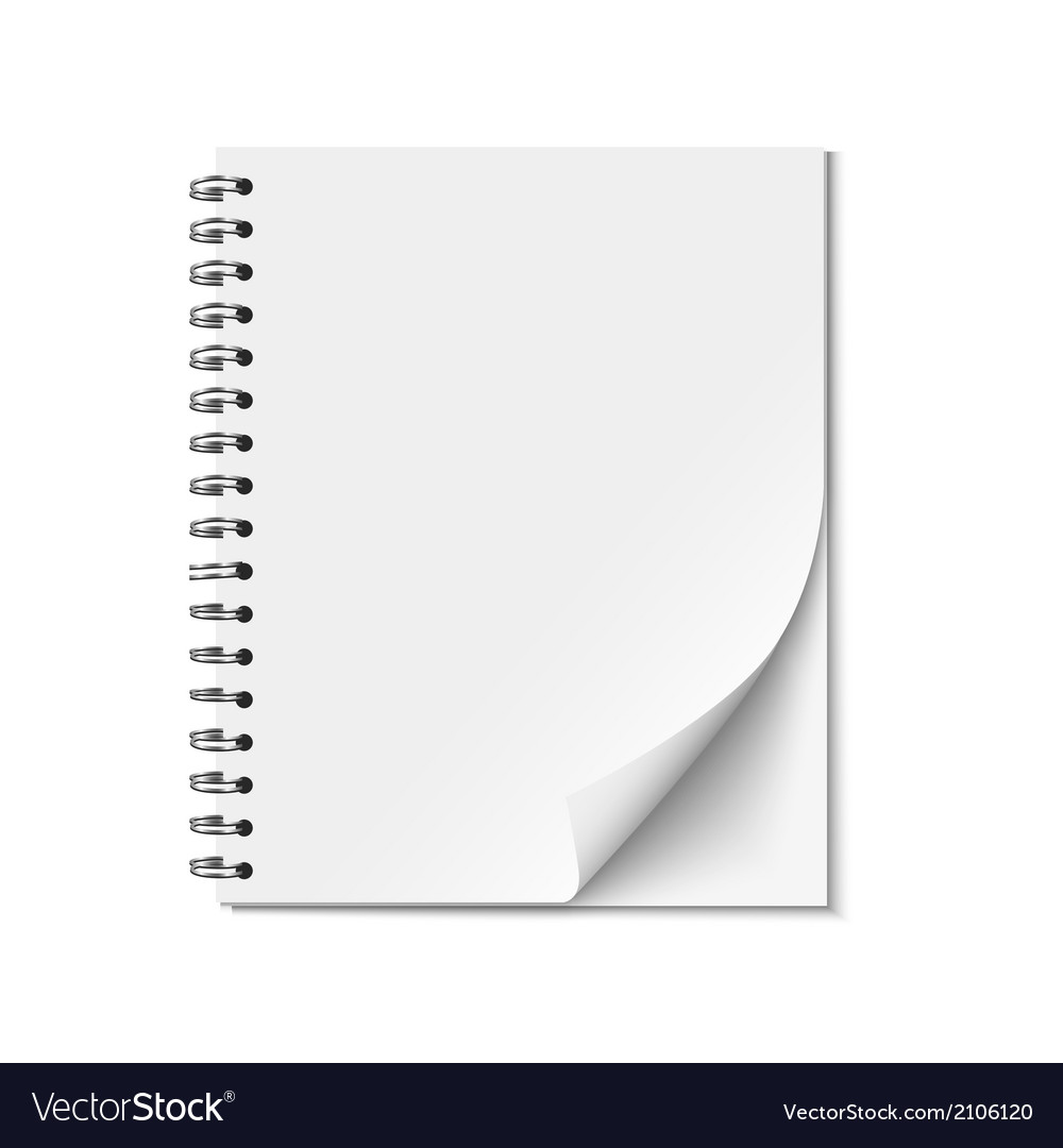 Blank realistic spiral notepad vector | Price: 1 Credit (USD $1)