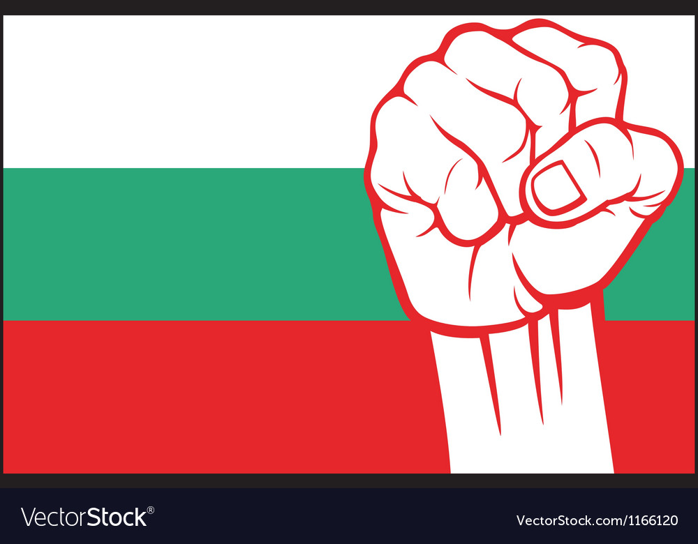 Bulgaria flag with fist vector | Price: 1 Credit (USD $1)