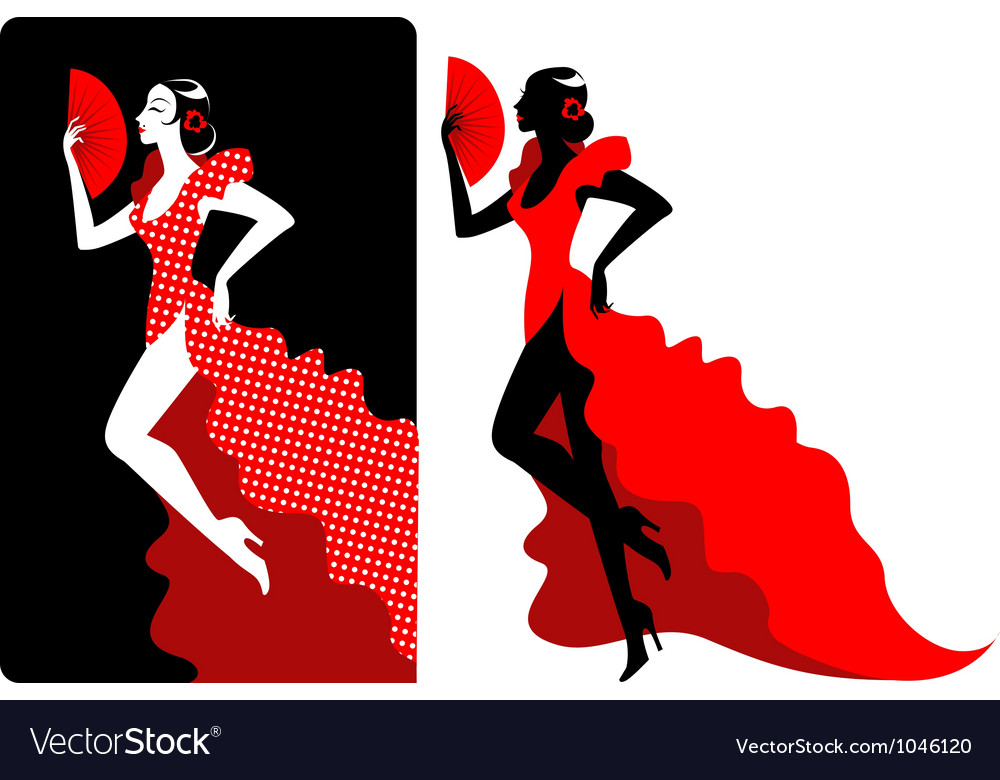 Flamenco dancer vector | Price: 1 Credit (USD $1)