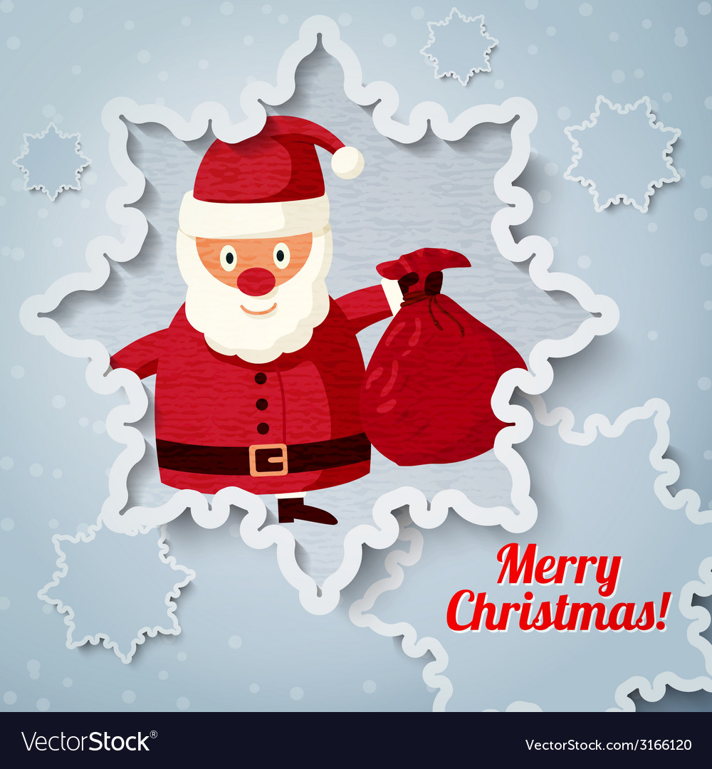 Merry christmas greeting card with place for your vector | Price: 1 Credit (USD $1)