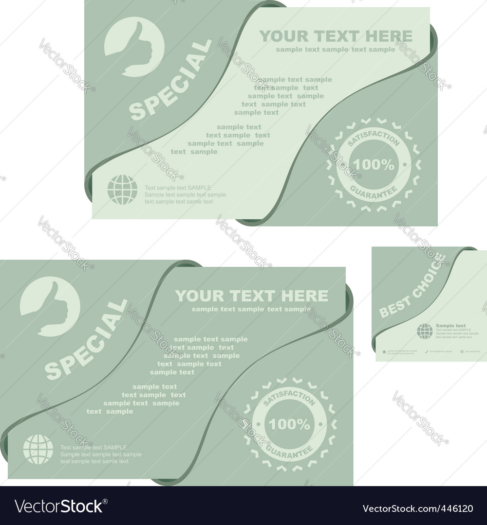 Set of sale signs vector | Price: 1 Credit (USD $1)