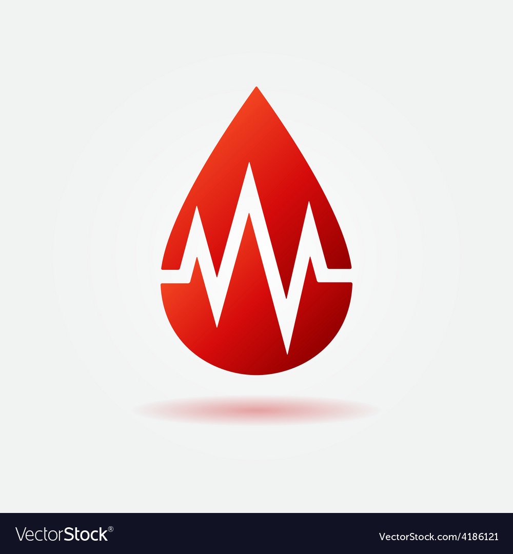 Blood drop red icon vector | Price: 1 Credit (USD $1)